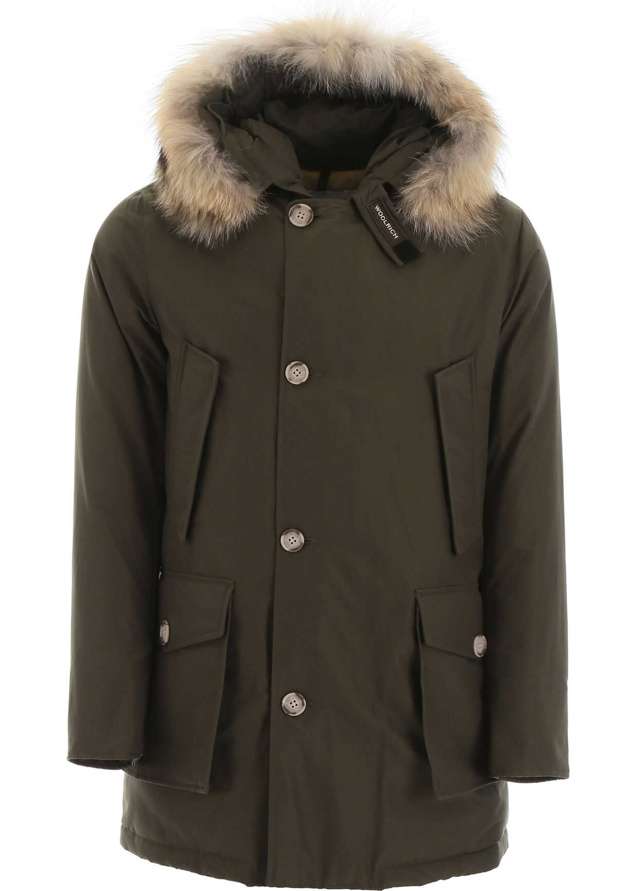 Woolrich Arctic Parka With Coyote Fur DARK GREEN