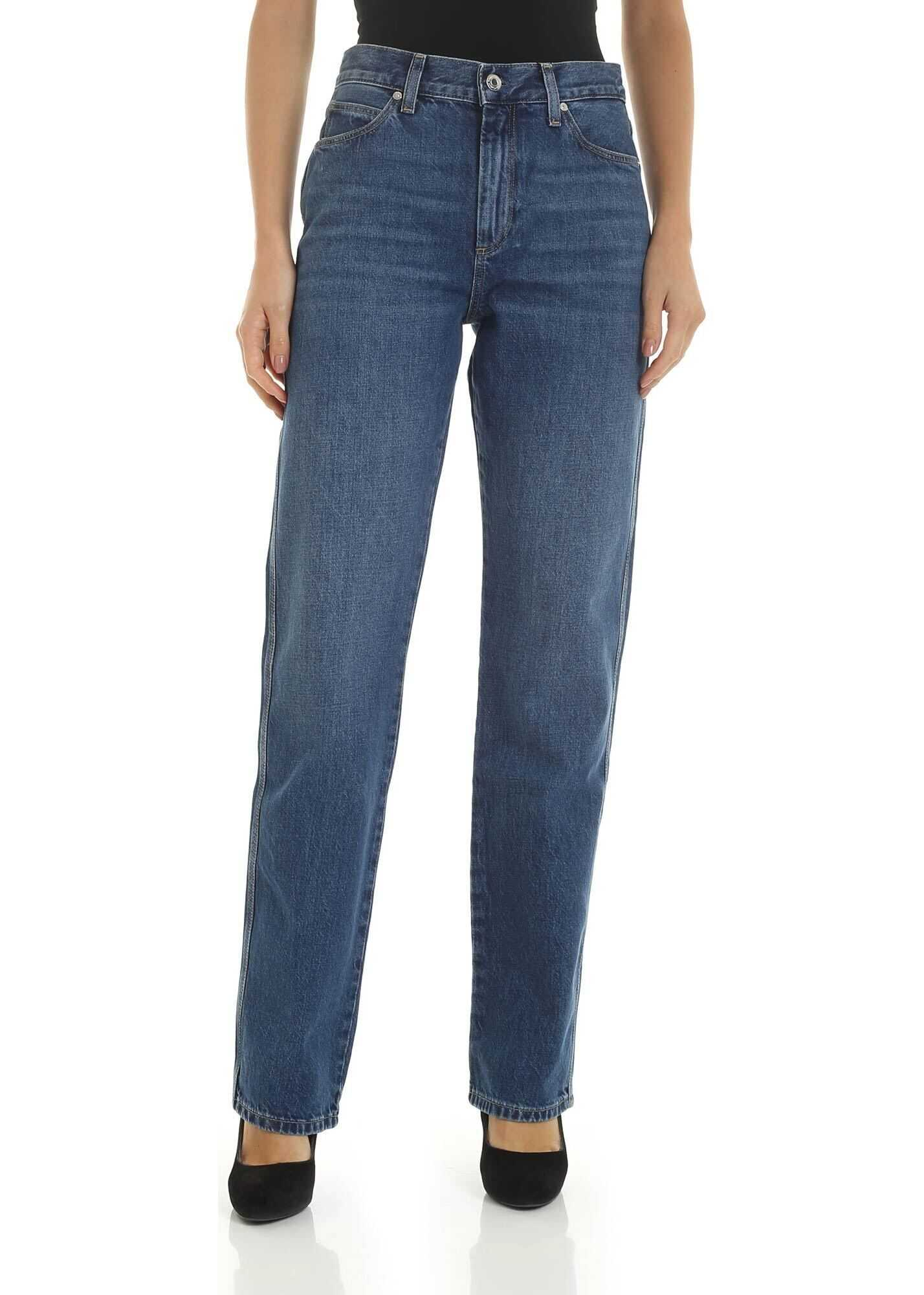 Calvin Klein Straight Fit 5 Pocket Jeans In Blue Blue