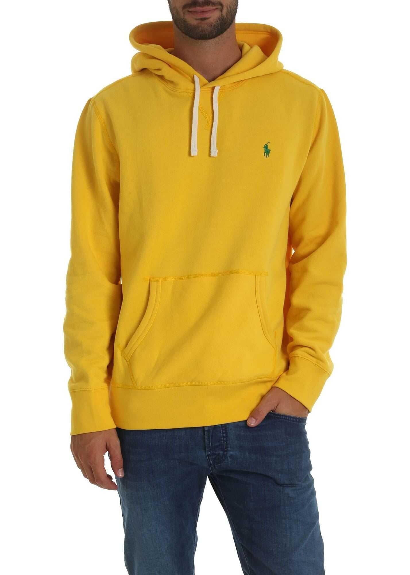 Ralph Lauren Yellow Sweatshirt With Logo Embroidery Yellow