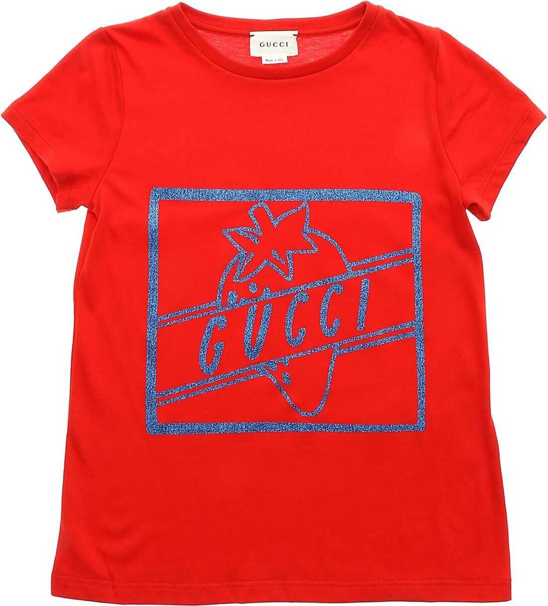 Glitter Printed T-Shirt In Red thumbnail