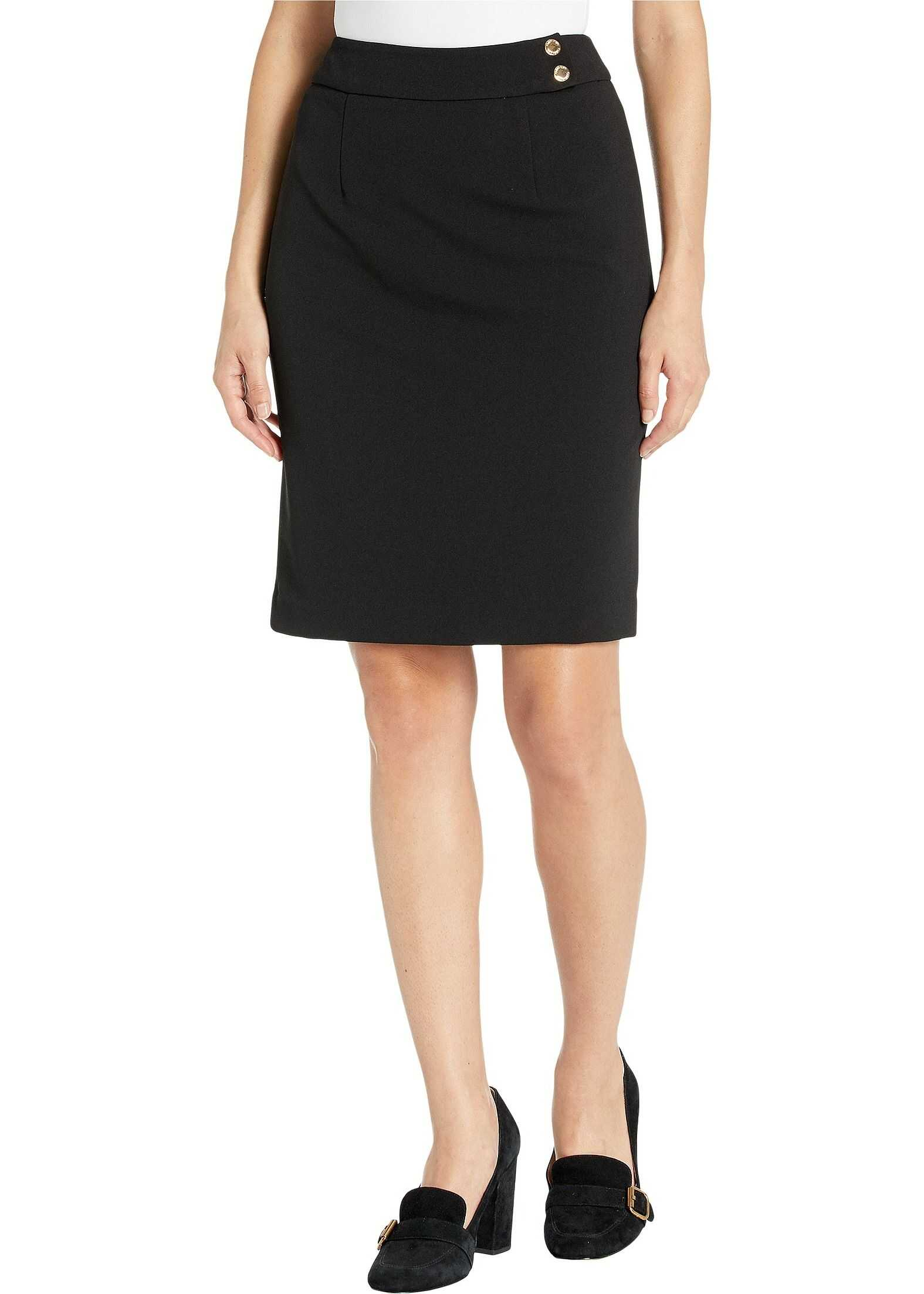 Calvin Klein Button Detail Skirt Black