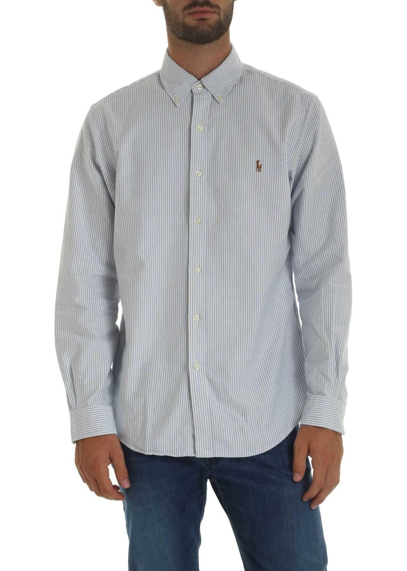 Blue Striped White Shirt thumbnail
