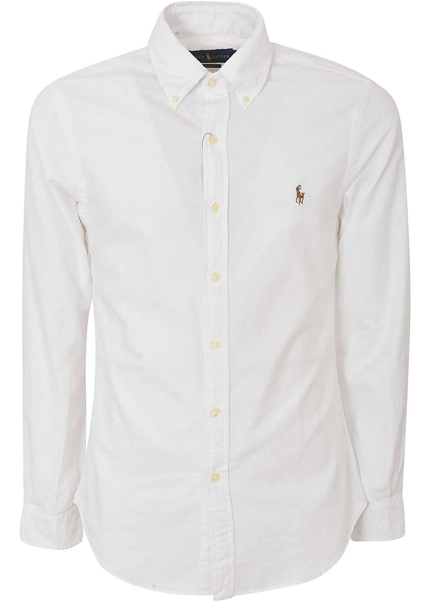 White Shirt With Logo Embroidery On The Chest thumbnail