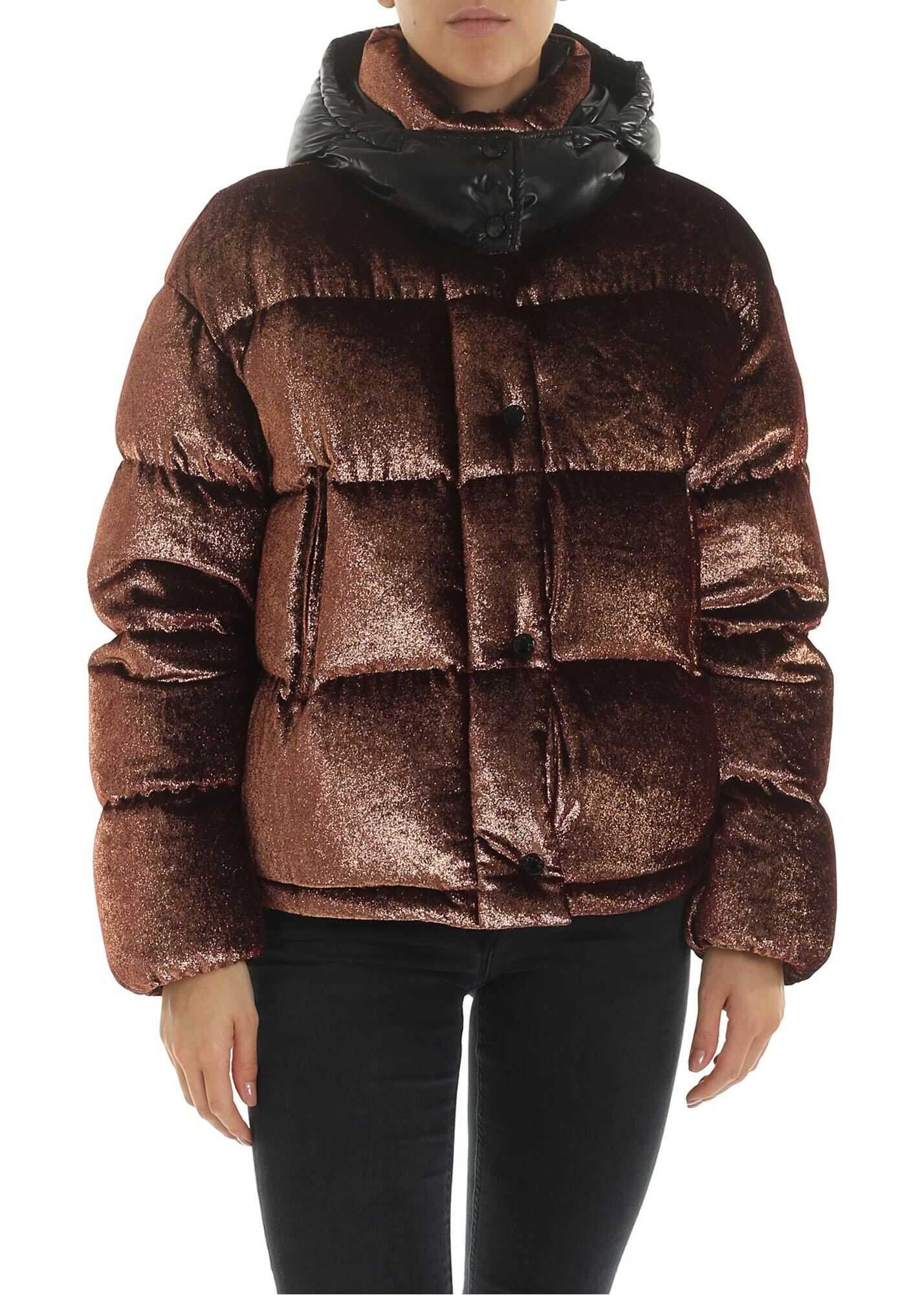 Caille Down Jacket In Bronze With Lamé Effect thumbnail