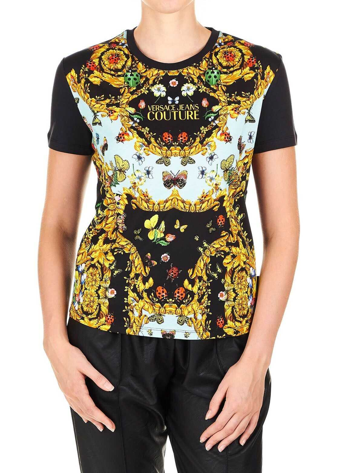 Versace Jeans Cotton T-Shirt BLACK