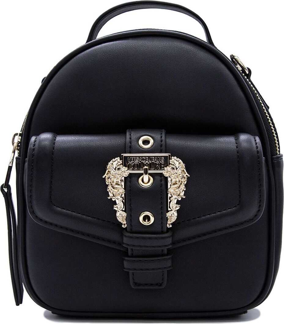 Versace Jeans Leather Backpack BLACK