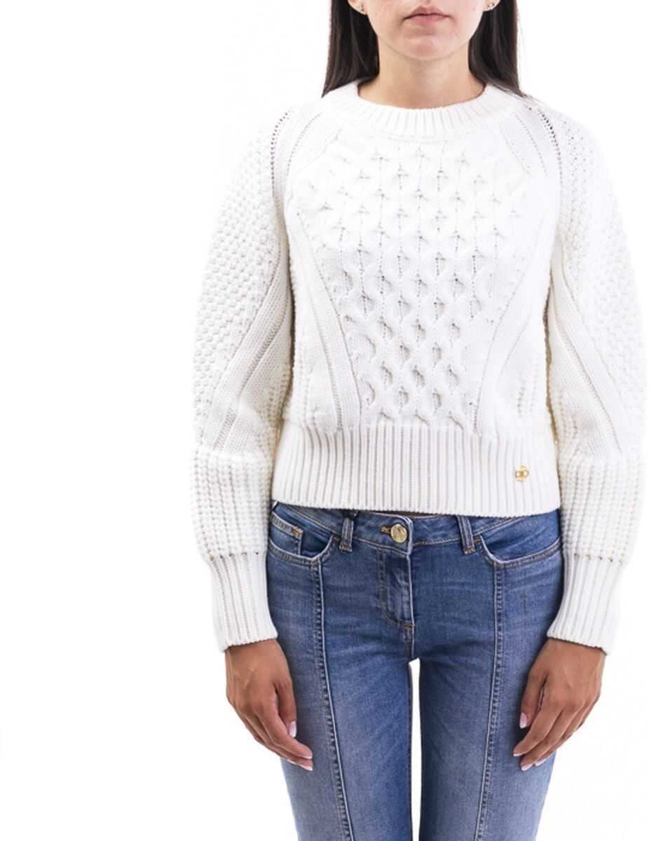Elisabetta Franchi Wool Sweater WHITE
