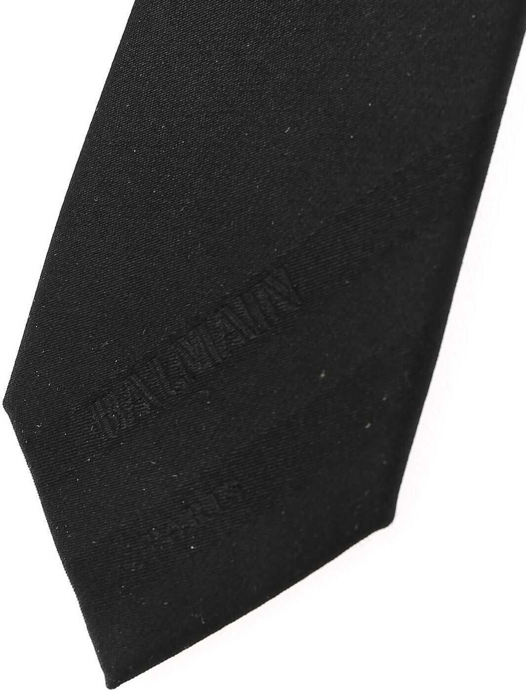 Balmain Silk Tie BLACK