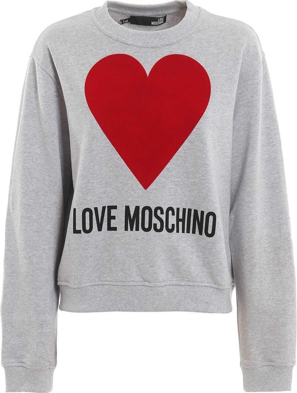 LOVE Moschino Cotton Sweatshirt GREY