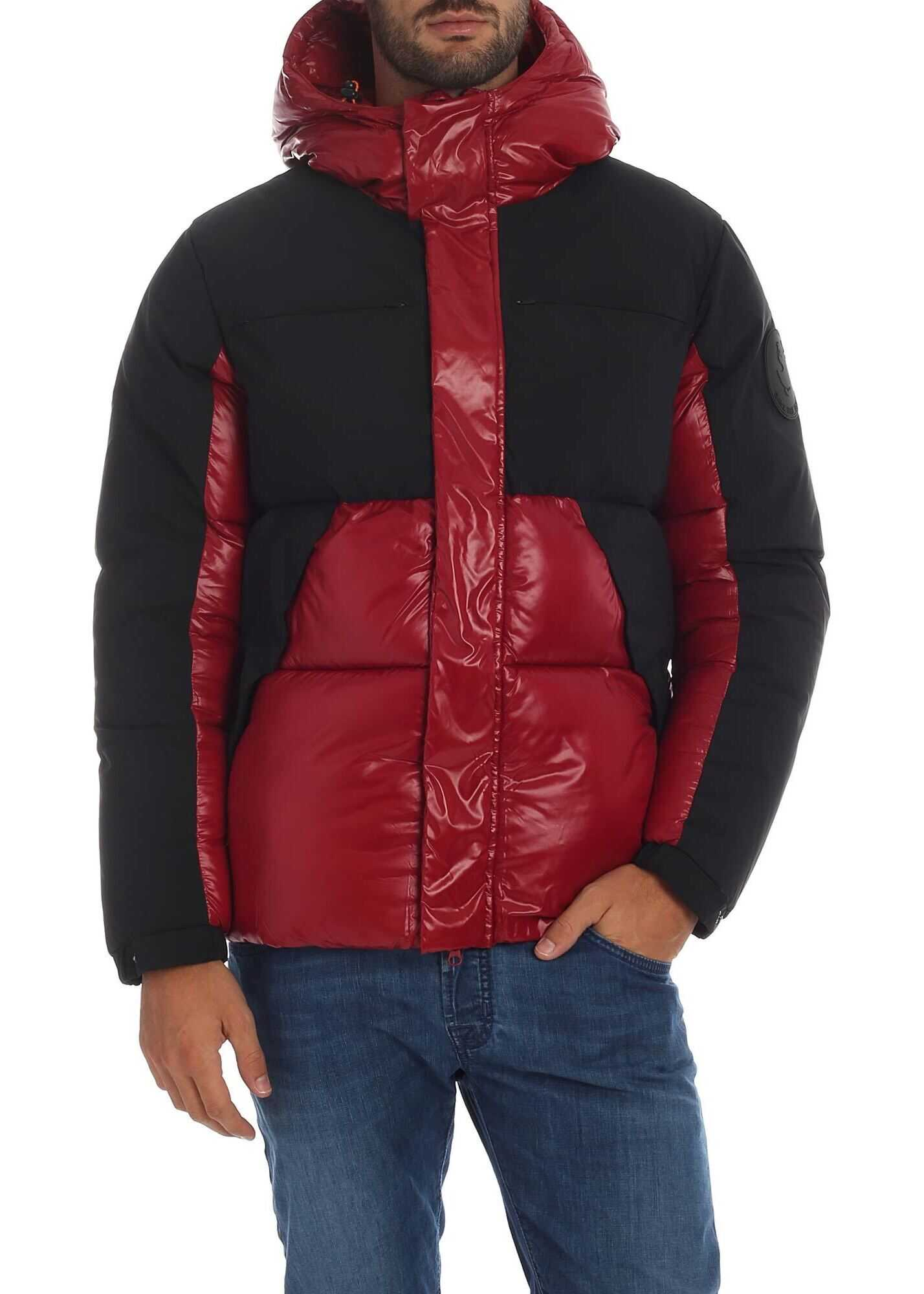Save the Duck Down Jacket In Red With Black Details Red