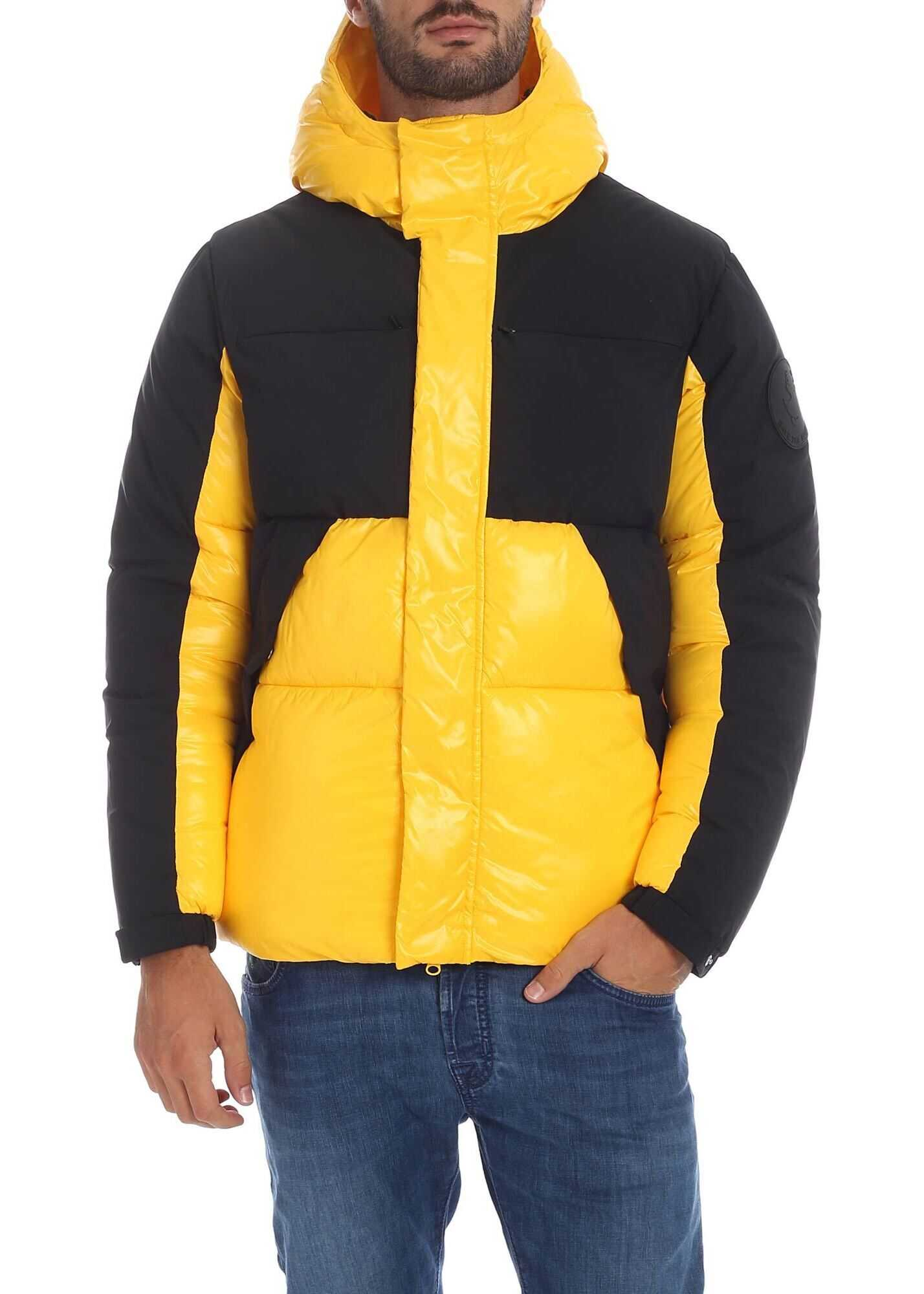 Save the Duck Down Jacket In Yellow With Black Details Yellow