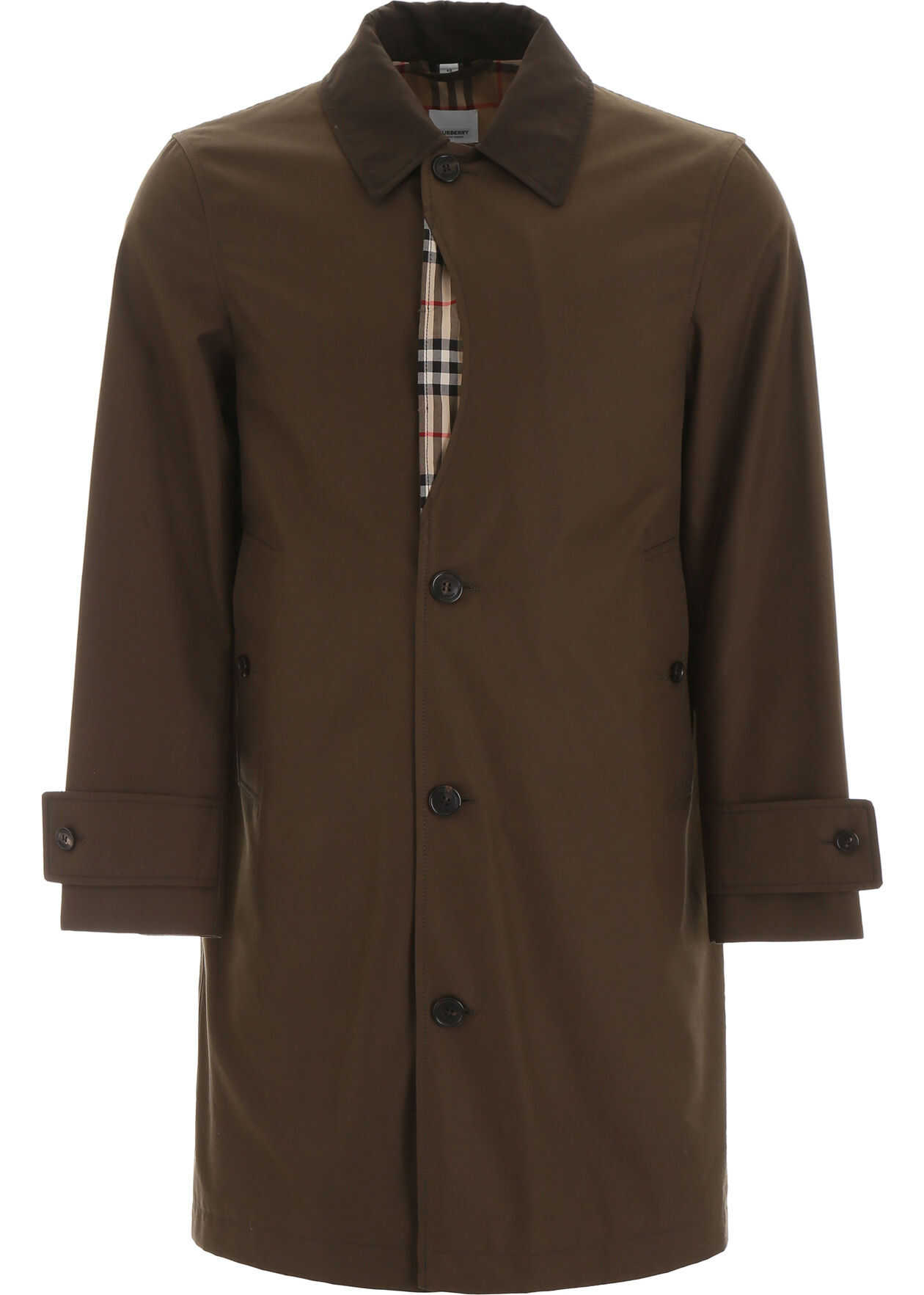 Burberry Ashborne Trench Coat DARK KHAKI GREEN
