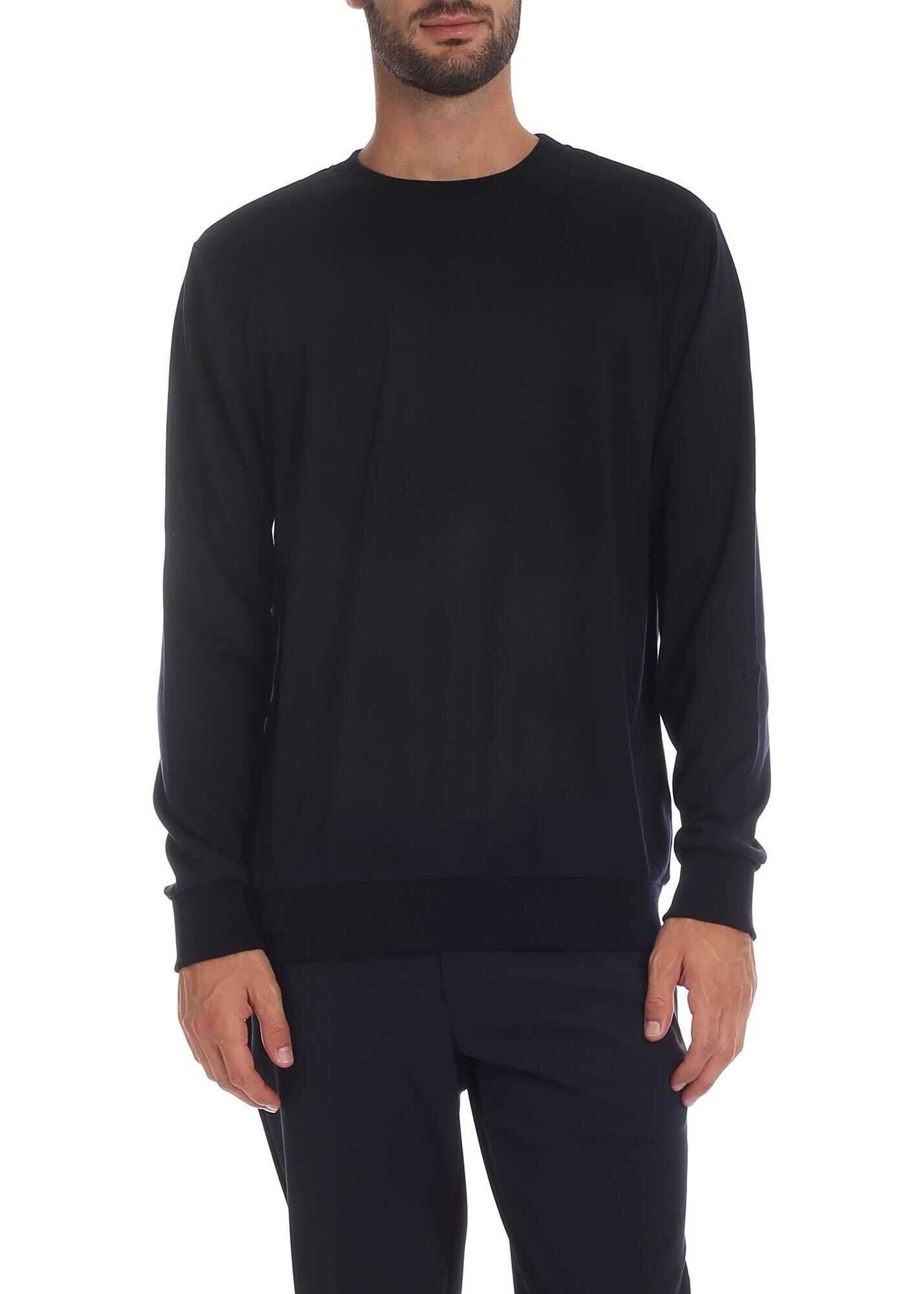 Paul Smith Dark Blue Crewneck Sweatshirt Blue