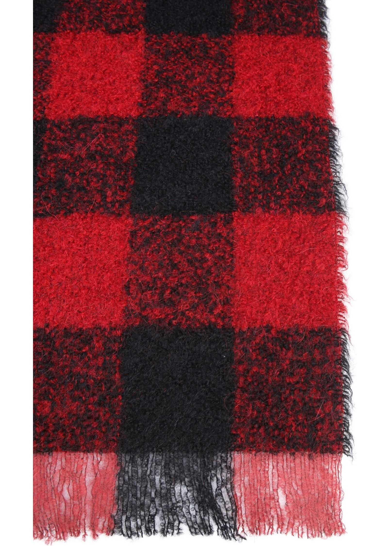 Woolrich Bouclè Tartan Scarf RED