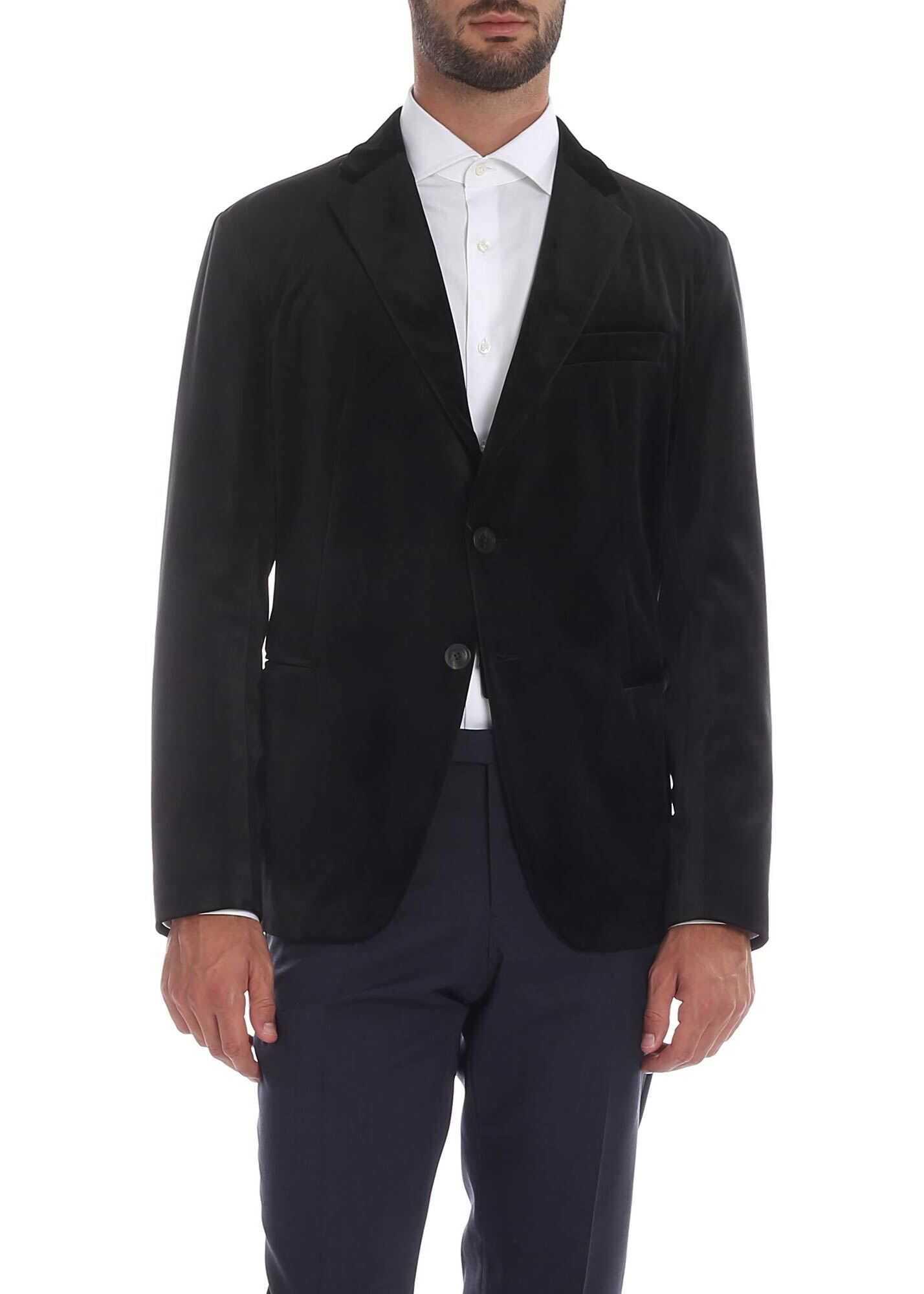 Emporio Armani Black Chenille Jacket Black