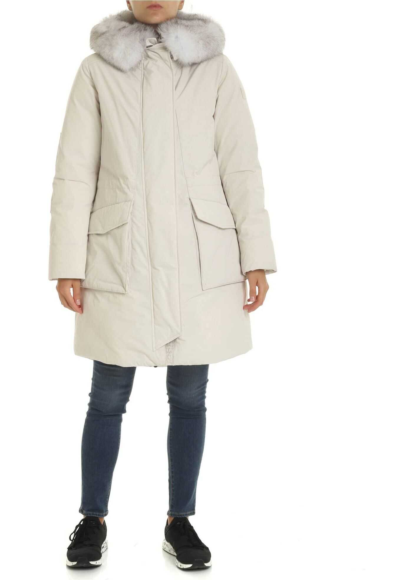 Military Parka Jacket In Ice Color thumbnail