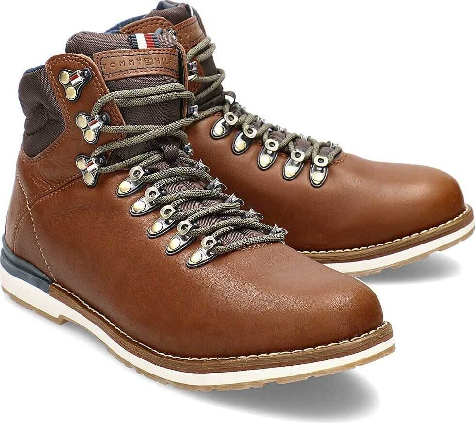 Tommy Hilfiger Outdoor Hiking Lace Leather Boot Brązowy
