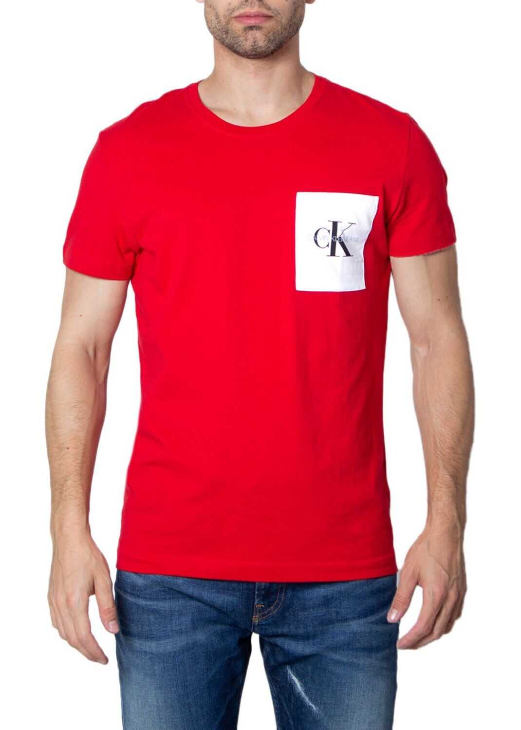 Calvin Klein Jeans Cotton T-Shirt RED
