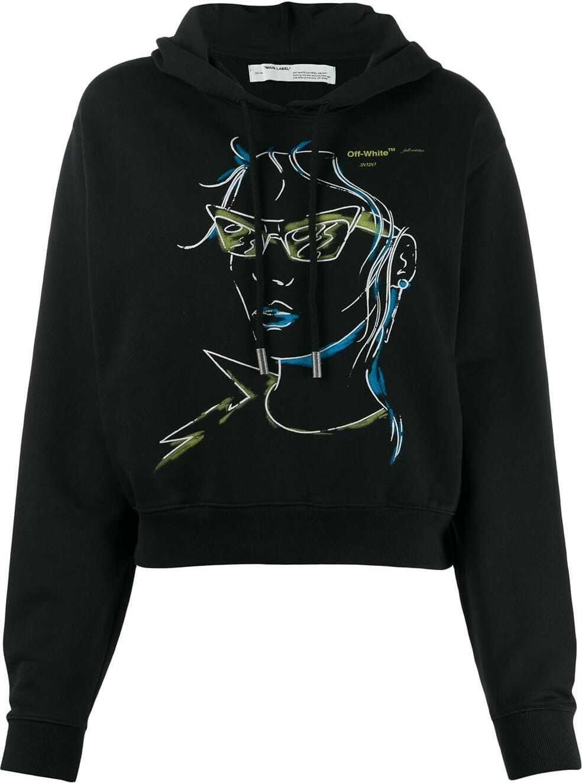 Off-White Cotton Sweatshirt BLACK