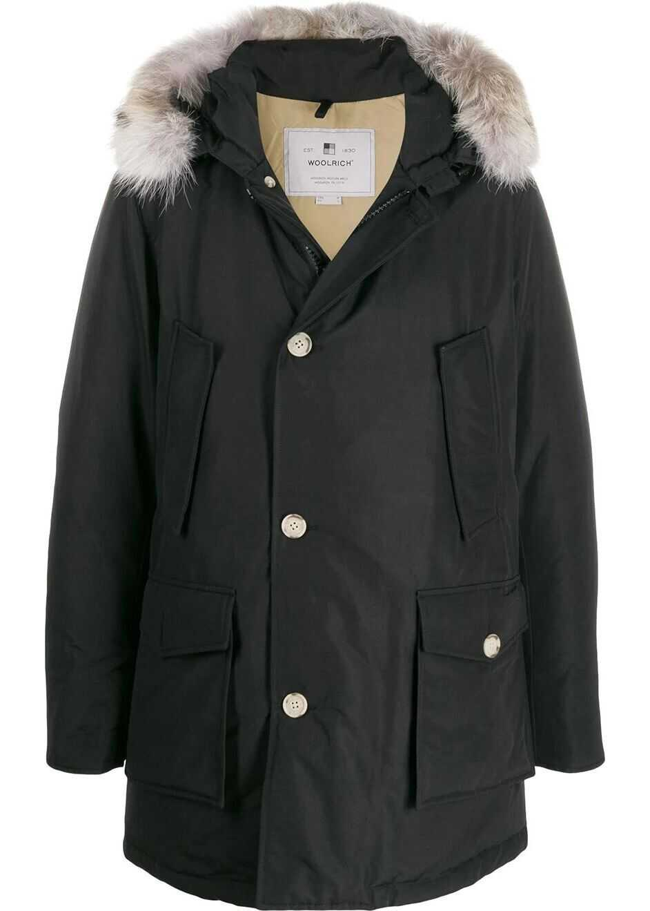Woolrich Cotton Outerwear Jacket BLACK