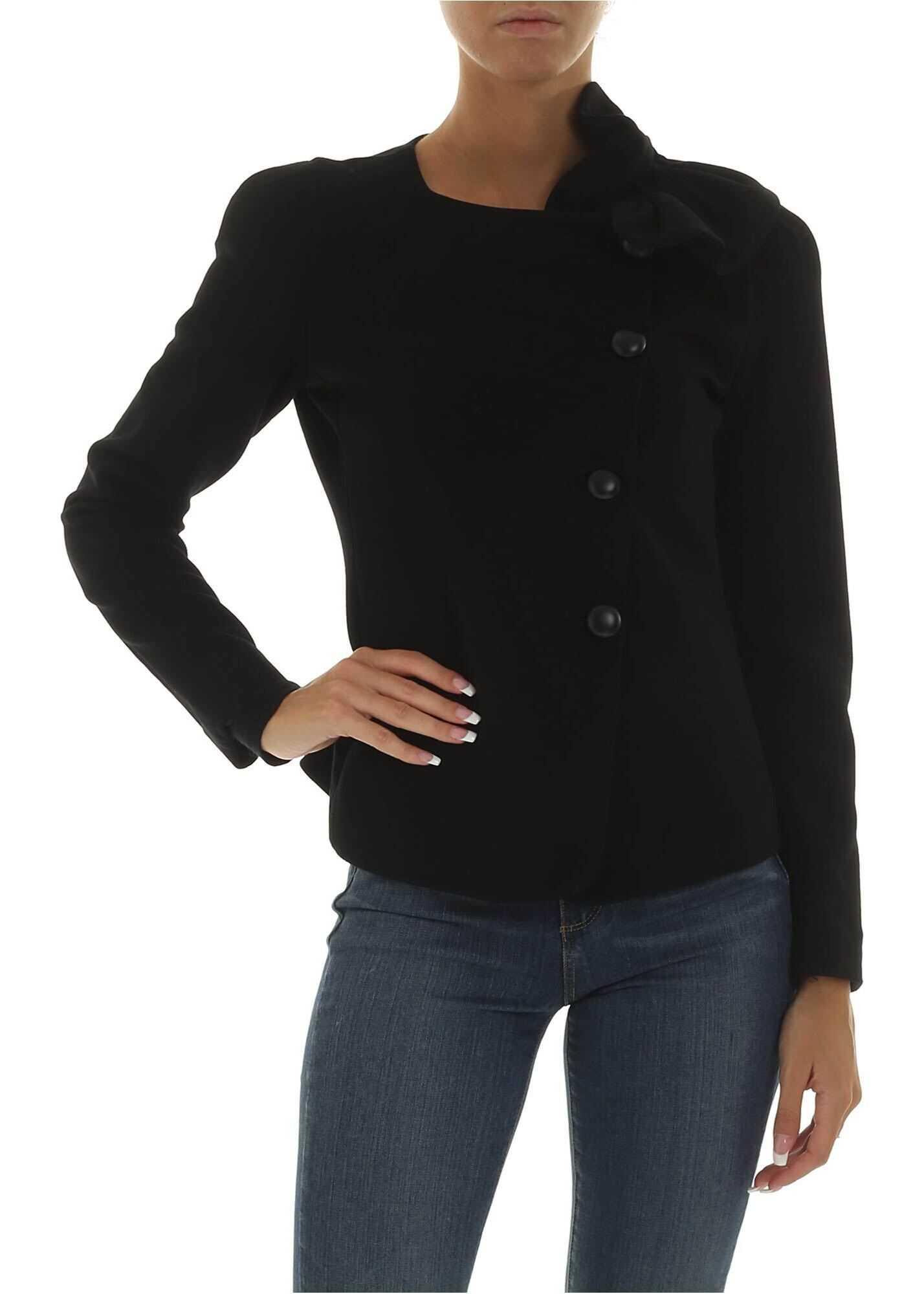 Black Jacket With Ruffles Detail thumbnail