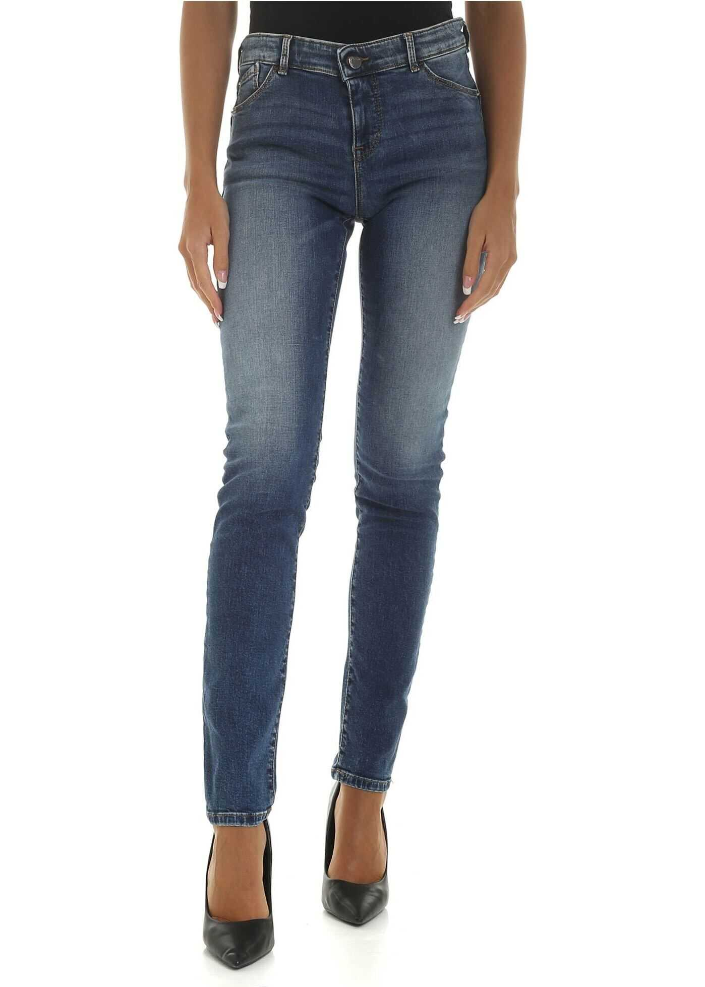Emporio Armani Light Blue Jeans With Push-Up Effect Light Blue