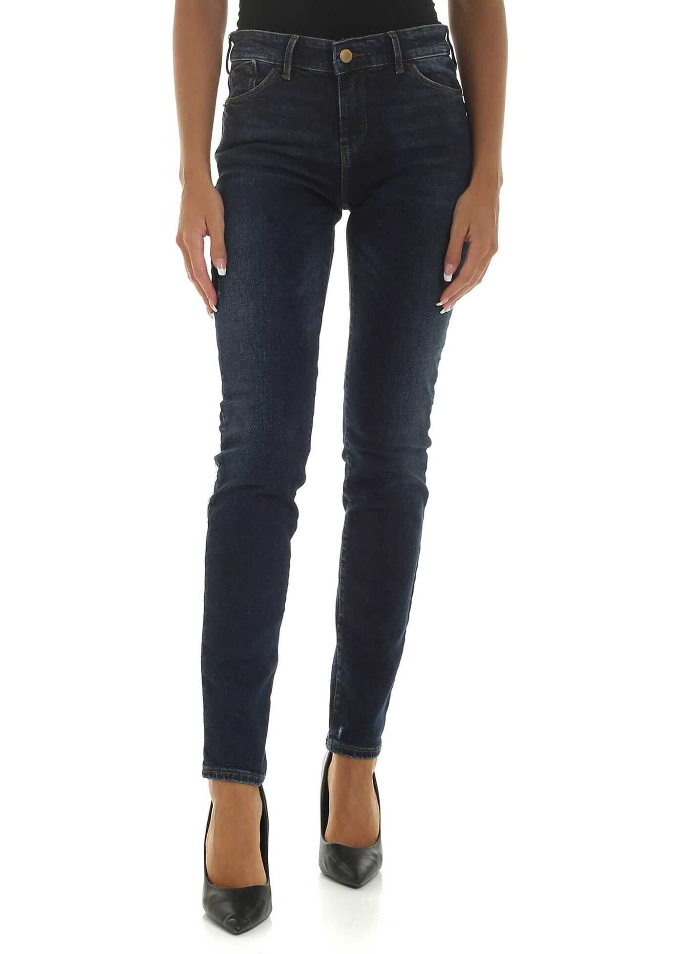 Emporio Armani Push-Up Effect Jeans In Blue Color Blue