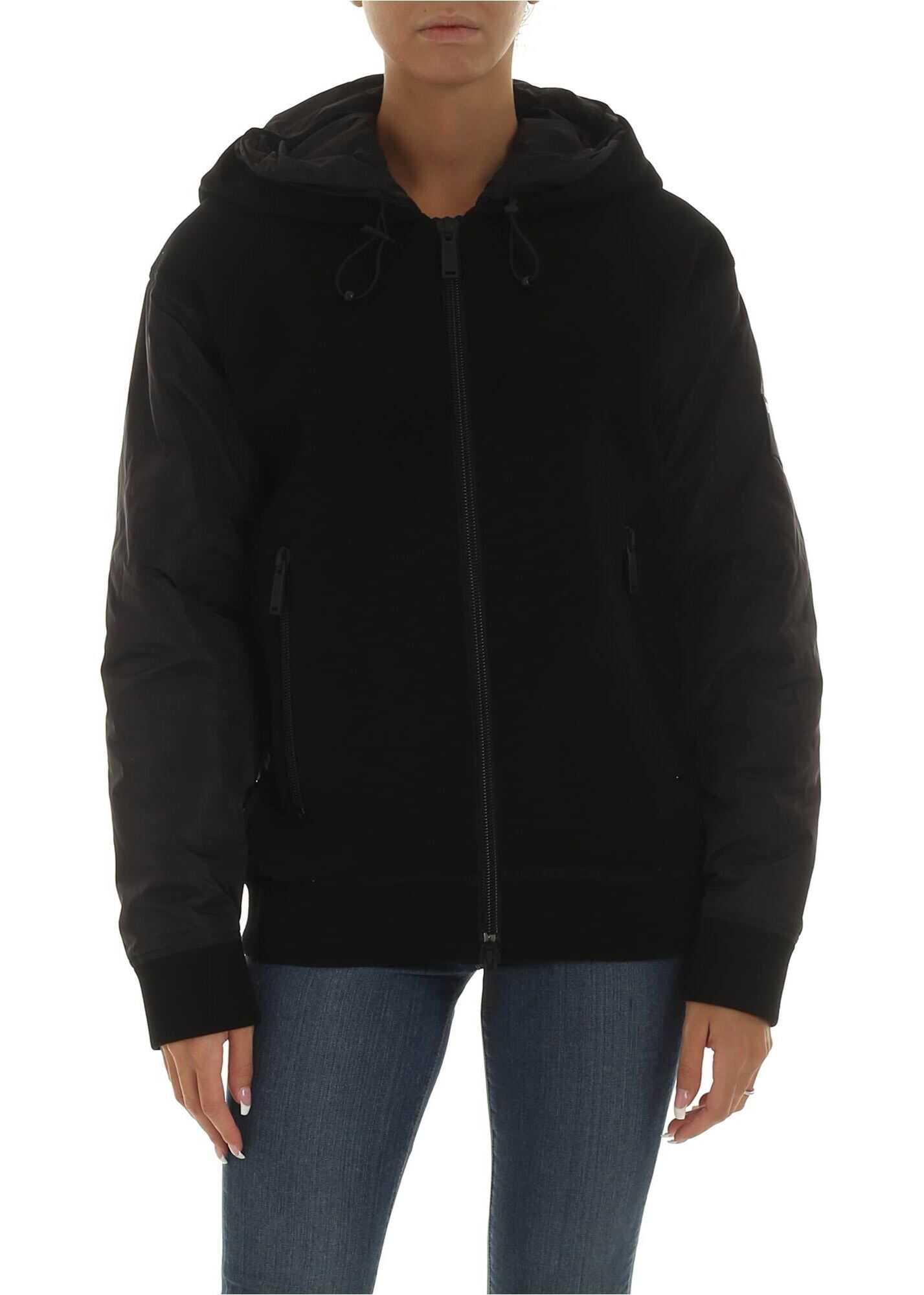 DSQUARED2 Ski Jacket With Hood In Black Black