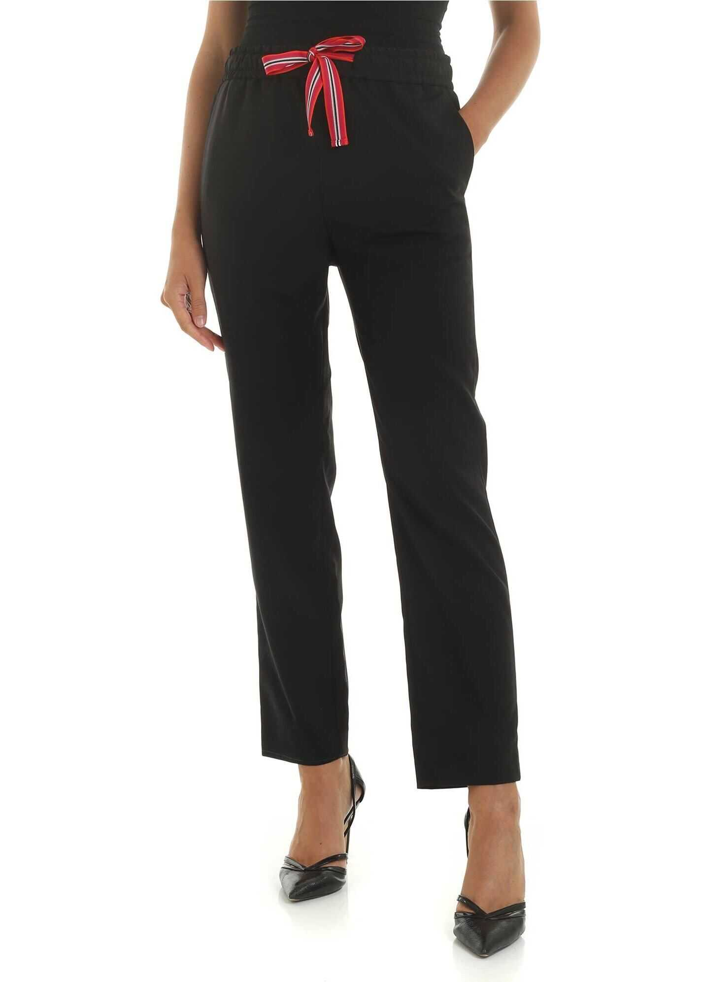 Black Trousers With Drawstring thumbnail
