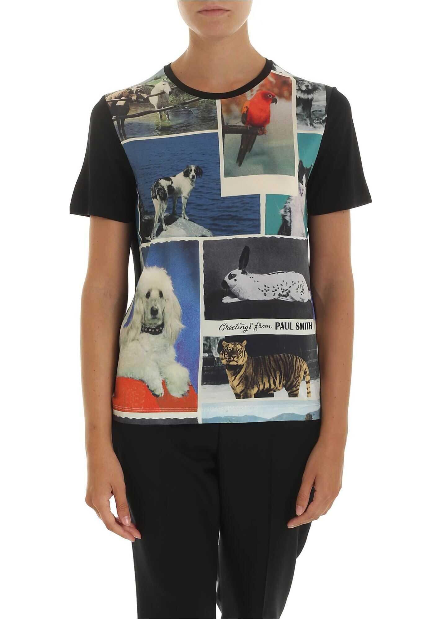 Printed T-Shirt In Black Color thumbnail