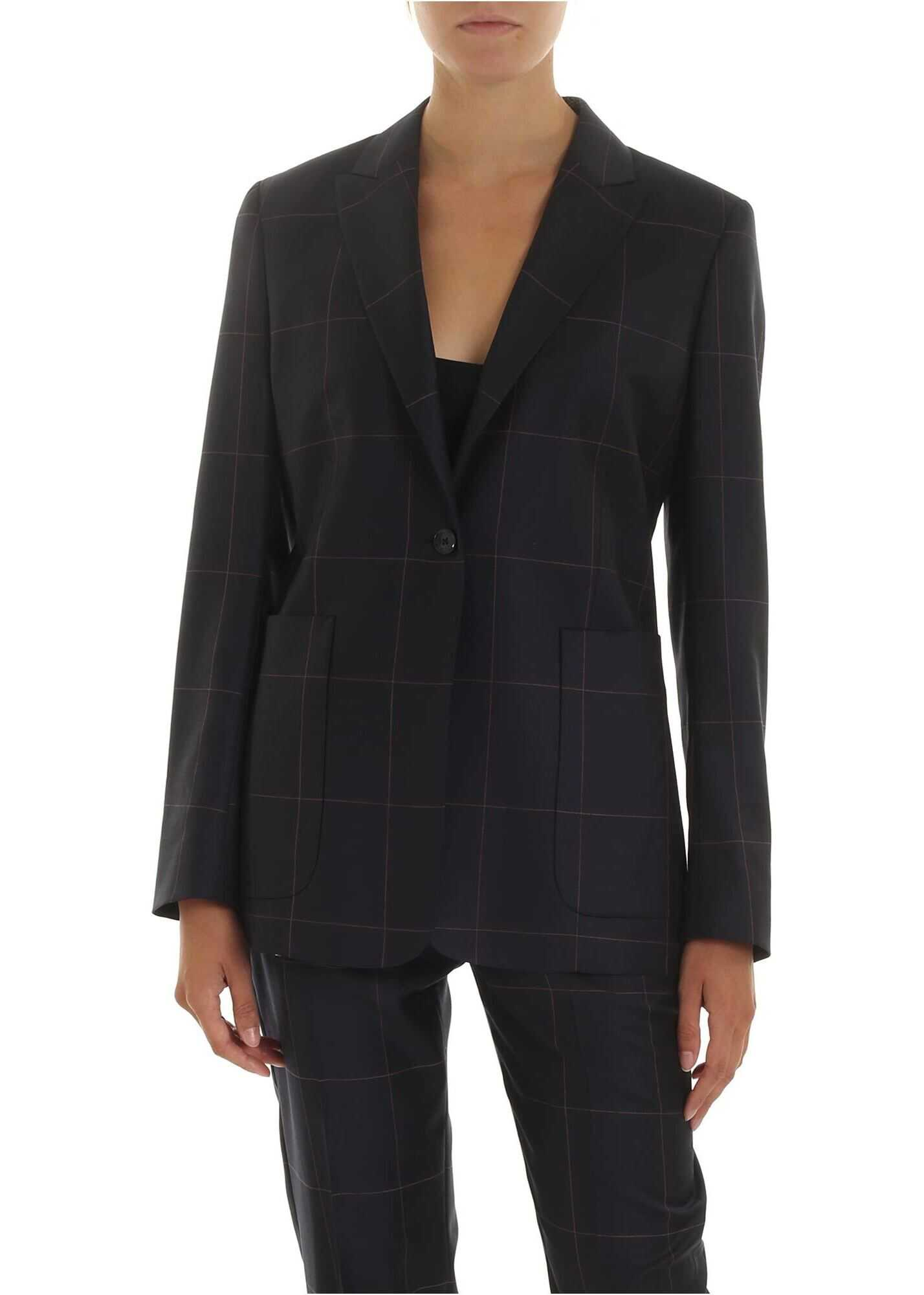 Blue Jacket With Check Pattern thumbnail