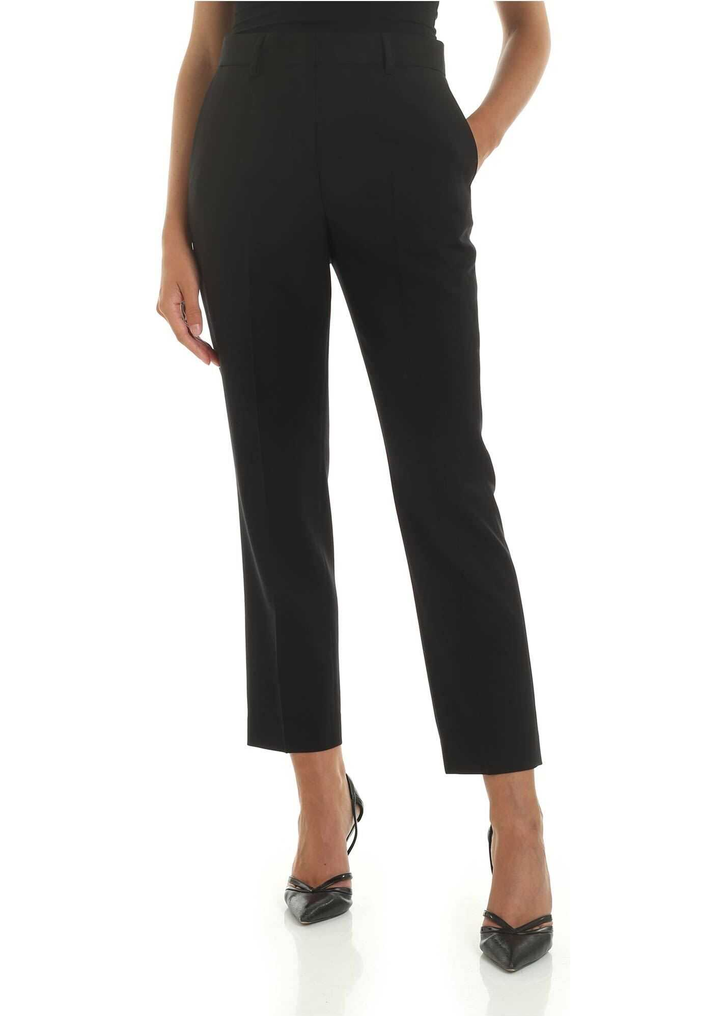 Paul Smith Black Wool Trousers With Sartorial Pleat Black