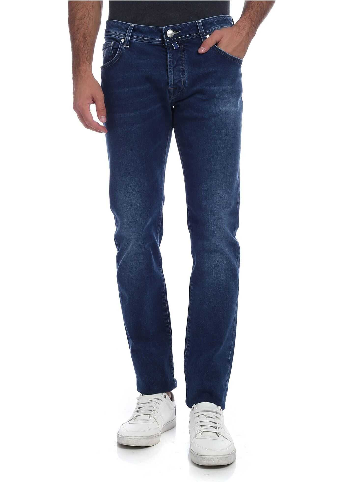 Blue Jeans With Electric Blue Logo thumbnail