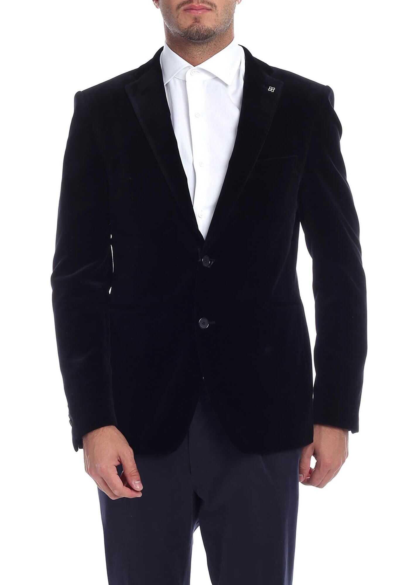Velvet Jacket In Black thumbnail