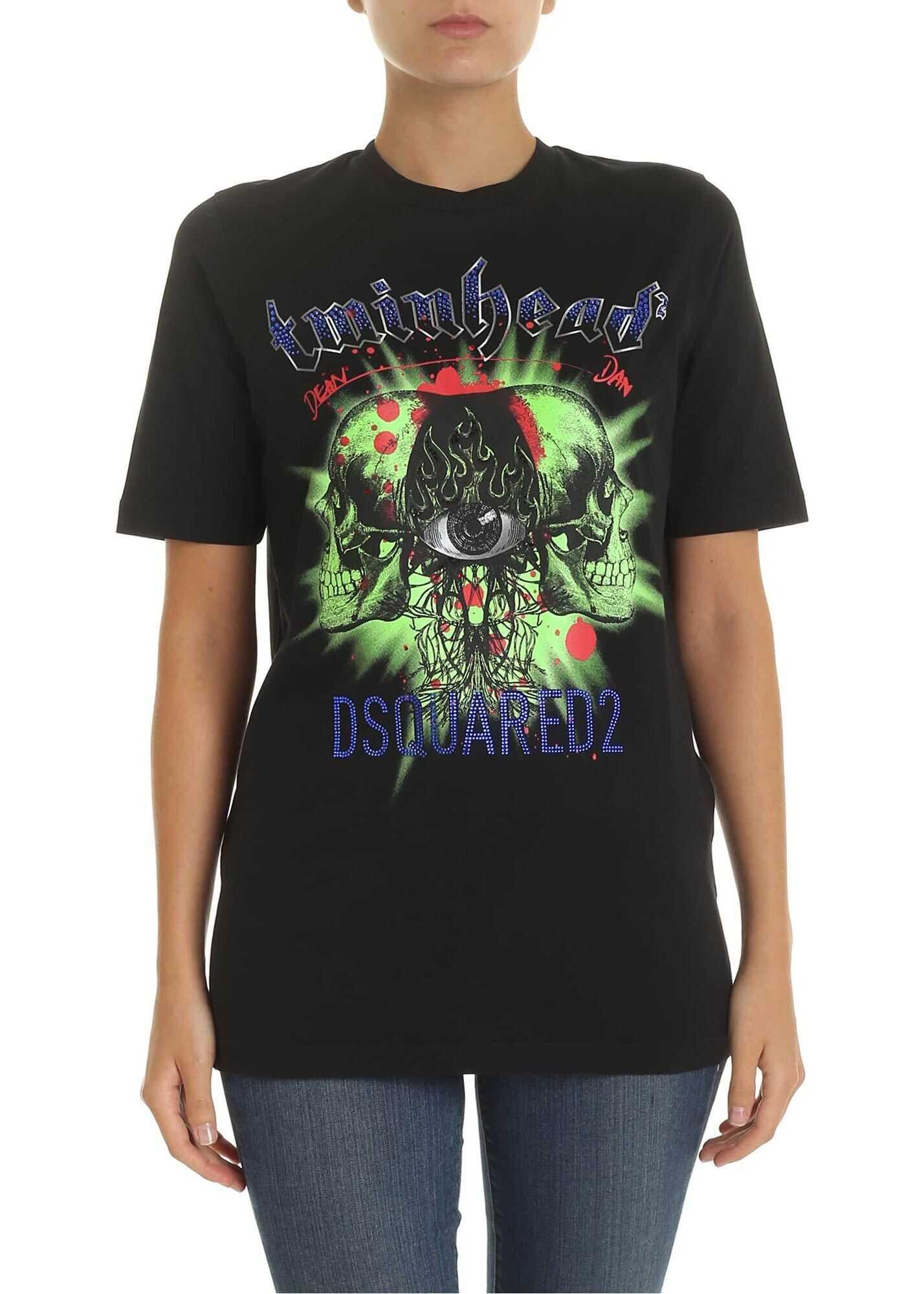 DSQUARED2 Twinhead T-Shirt In Black Black