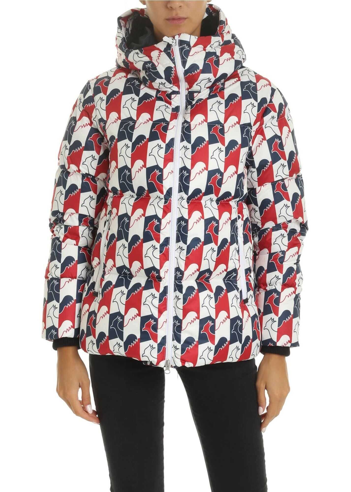 Rossignol Abscisse Down Jacket In White, Blue And Red White