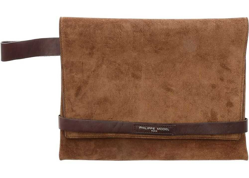 Simone Clutch Bag In Brown thumbnail