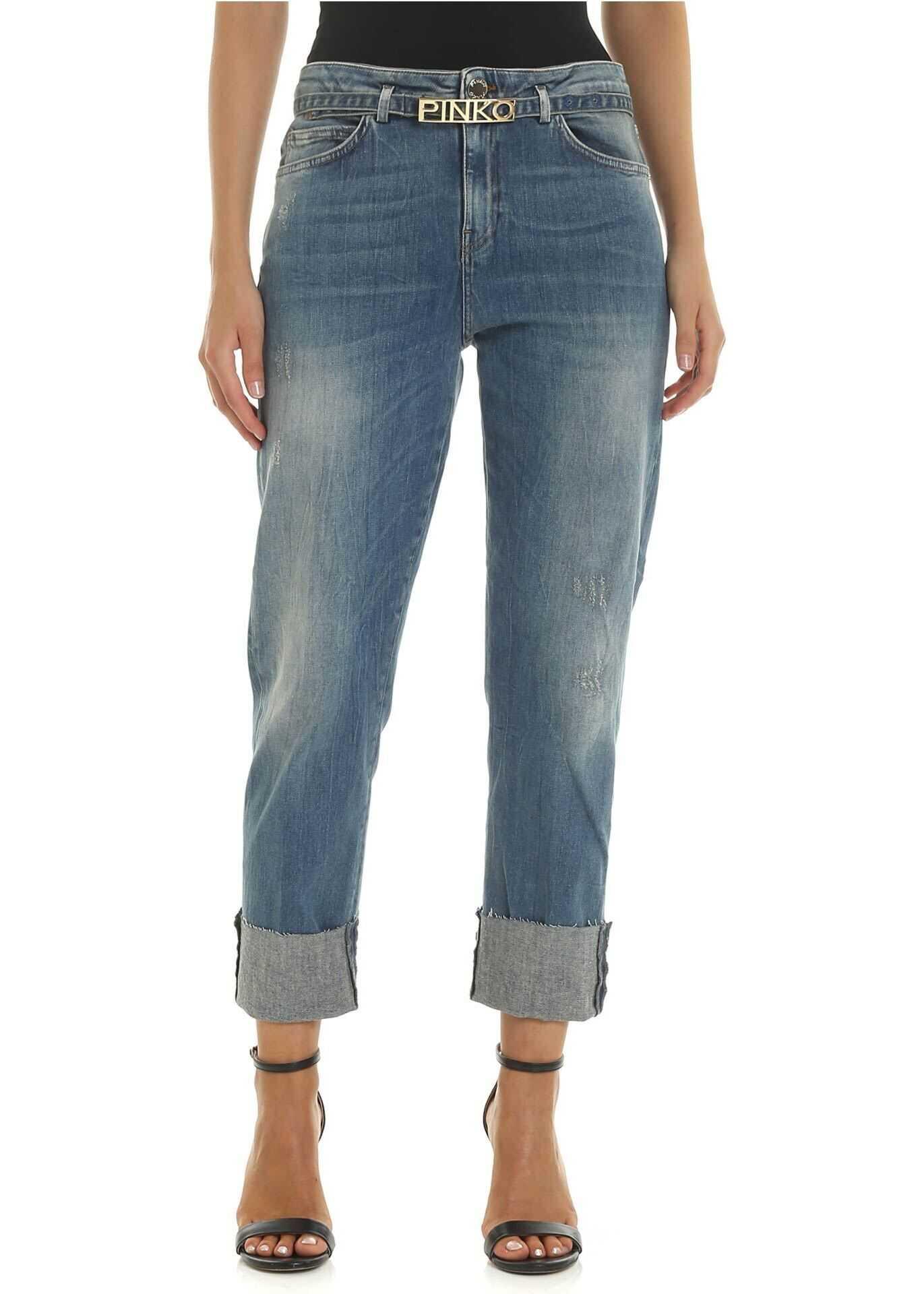 Pinko Becca 2 Jeans In Blue Light Blue