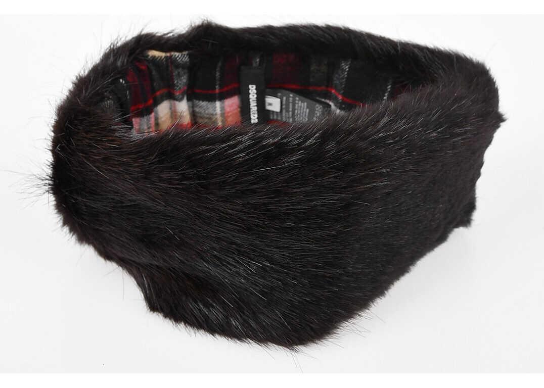 DSQUARED2 Real Fur Hat BROWN