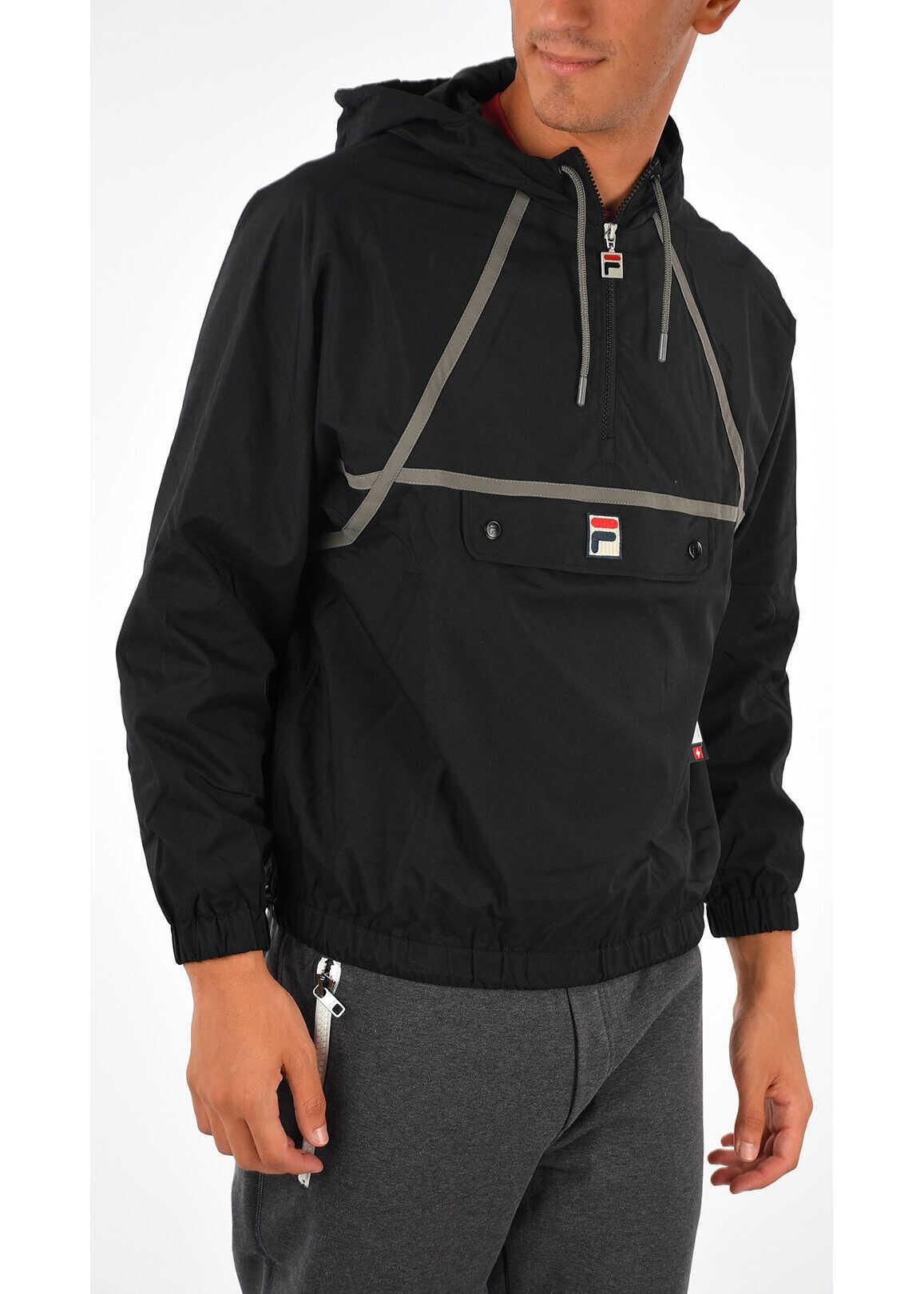 Fila Nylon Hooded Jacket BLACK