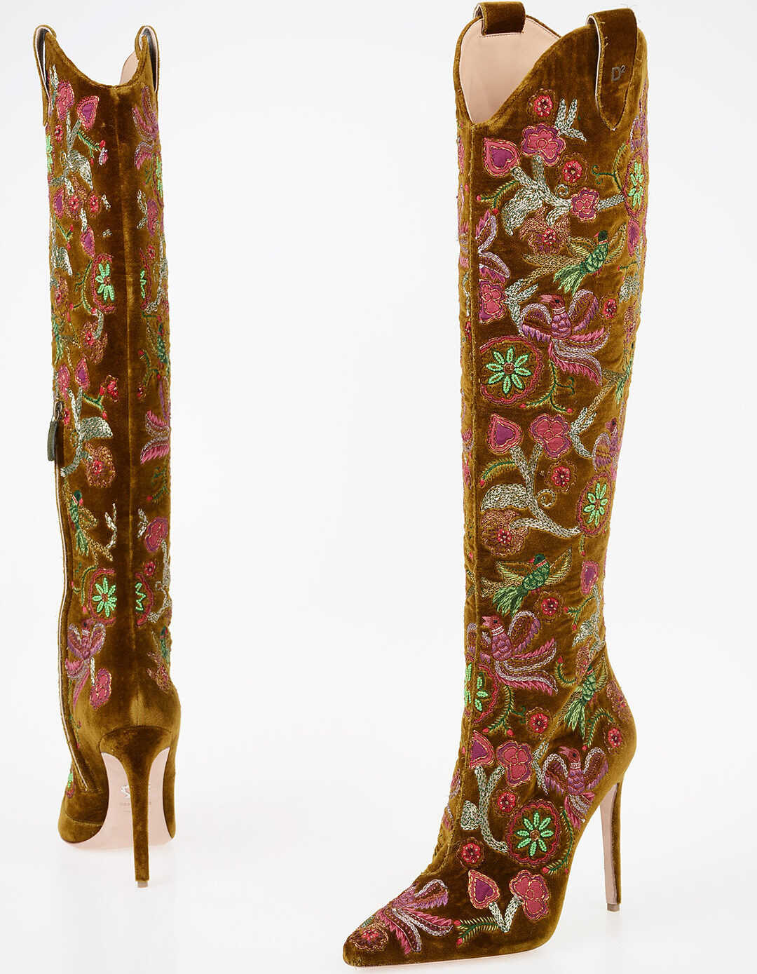 11cm Floral Embroidered Boots thumbnail