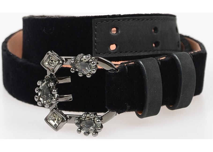 25mm Leather and Velvet Belt thumbnail