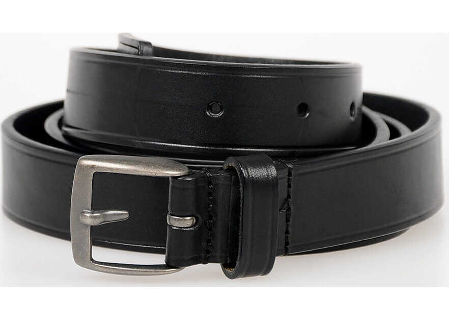 DSQUARED2 20mm Leather Belt BLACK