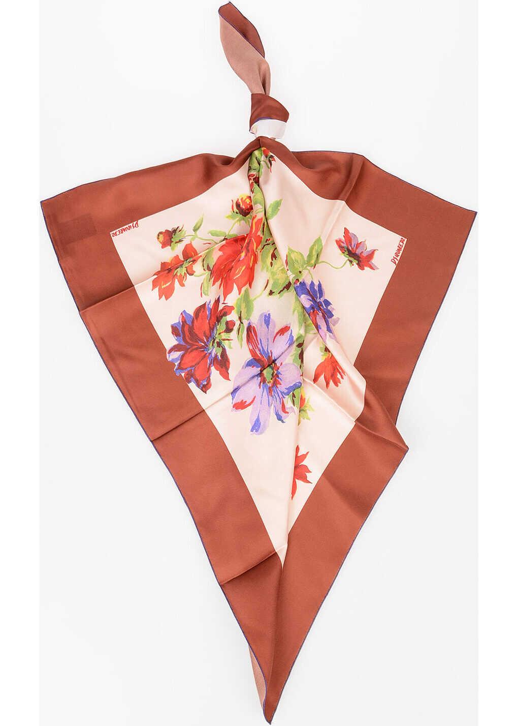 DSQUARED2 70x70cm Silk Floreal Foulard MULTICOLOR