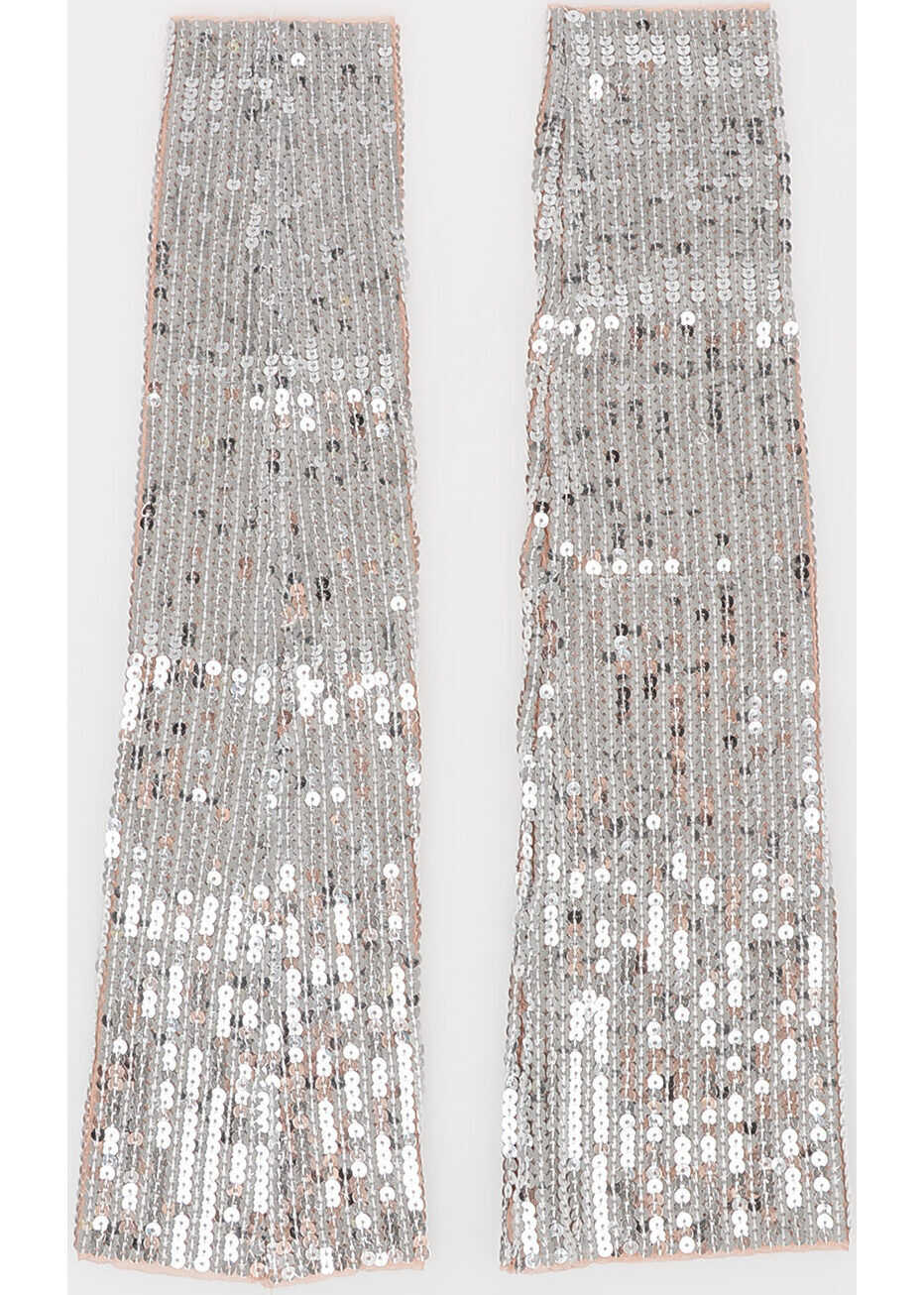 DSQUARED2 Sequined Arms Sleeves SILVER