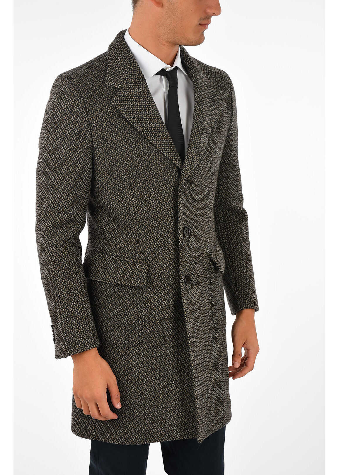 CORNELIANI CC COLLECTION Half Lined 3 Button Coat MULTICOLOR