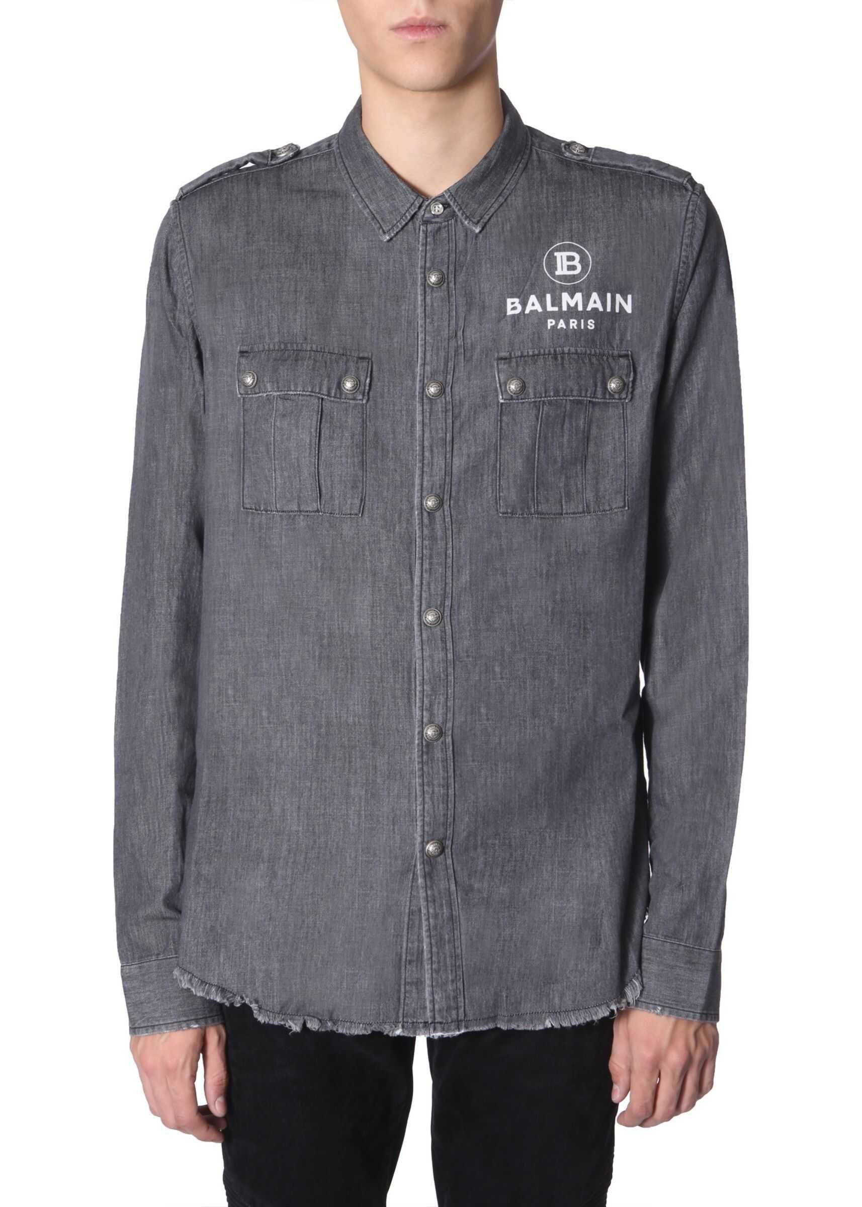 Balmain Denim Shirt GREY
