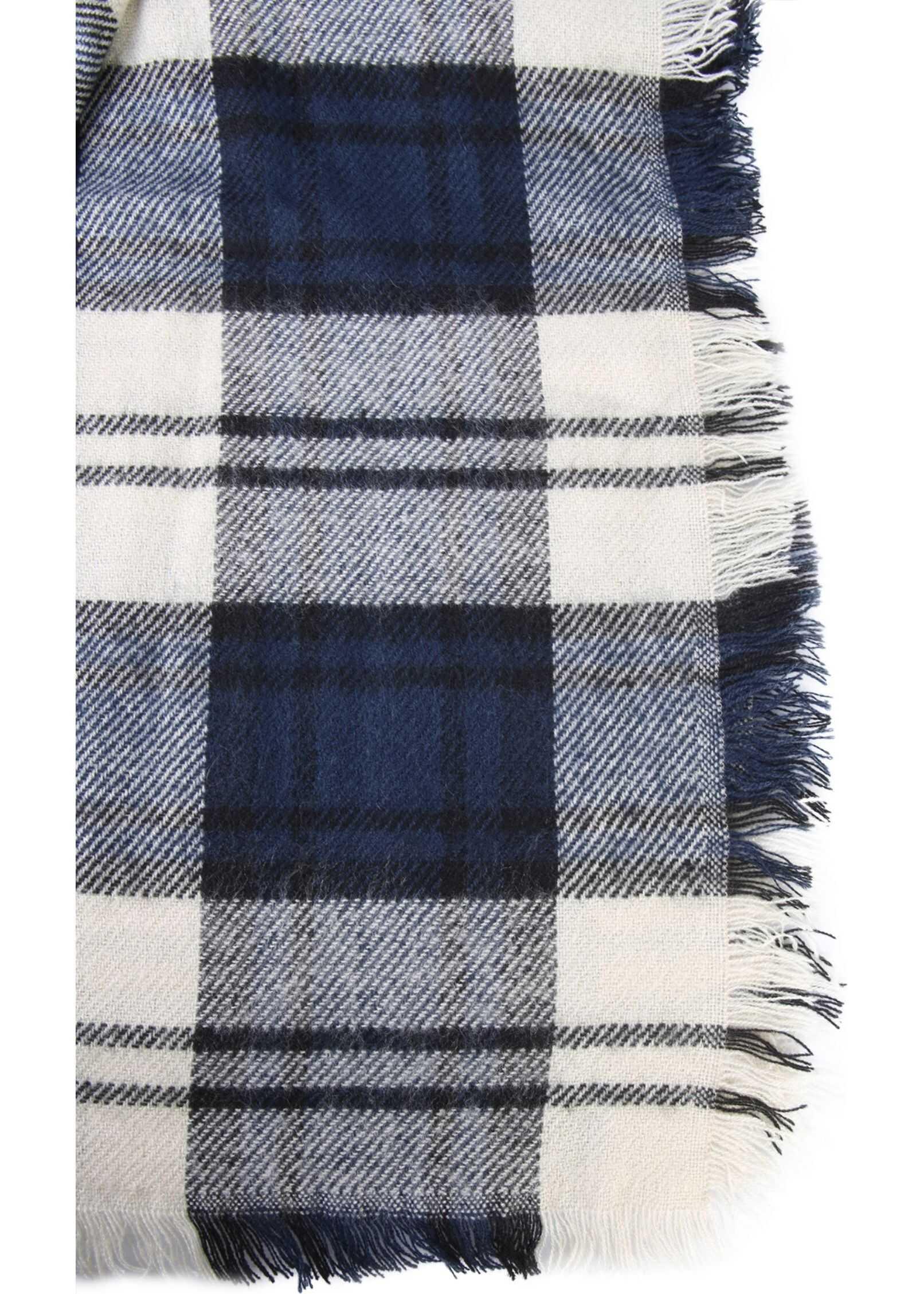 Woolrich Tartan Scarf BLUE