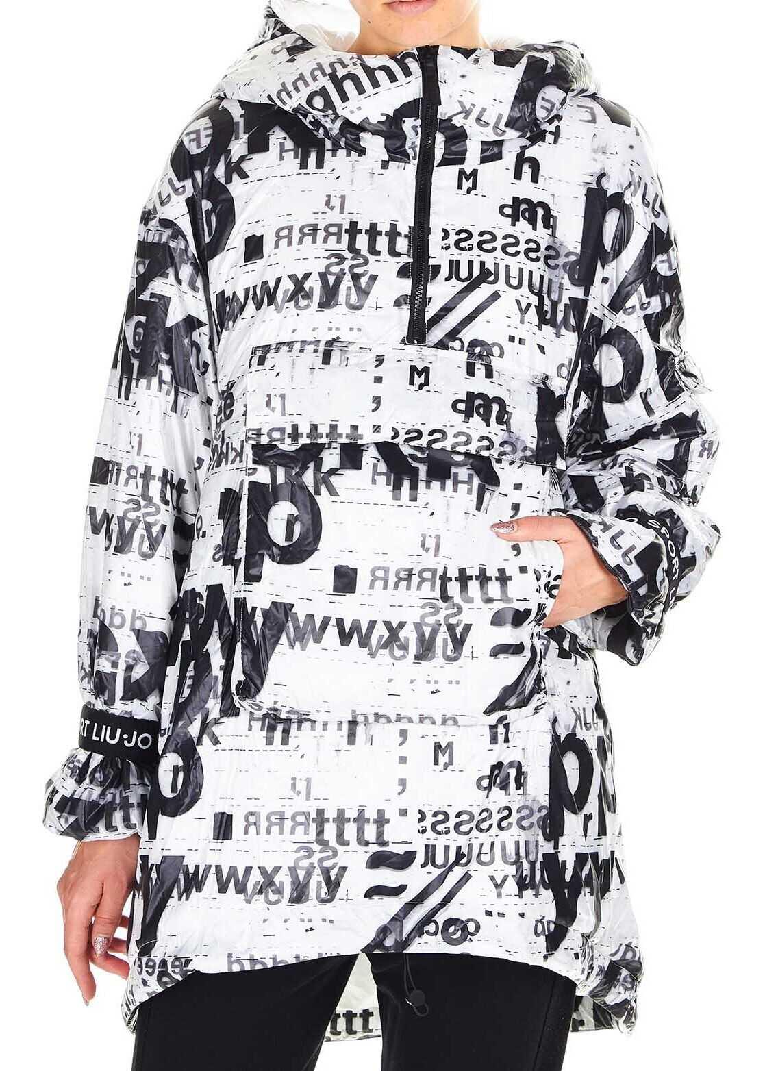 Liu Jo Oversized padded jacket with logo print White