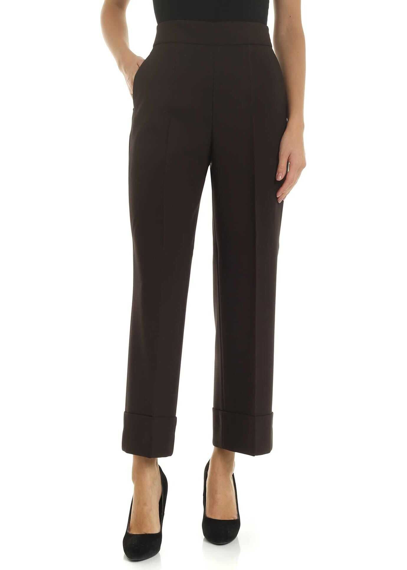 Incotex Turned-Up Trousers In Brown Brown